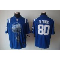 China Nike NFL Indianapolis Colts 80 Fleener blue Helmet Tri-Blend Jersey www.doamazingbusiness. on sale