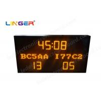Quality Multi Functional Led Electronic Scoreboard Football With Iron / Steel Frame for sale