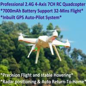Quality 2.4G 7CH Headless Predator RC Quadcopter Drone 32-Mins Flight & Inbuilt GPS One-Key Return for sale