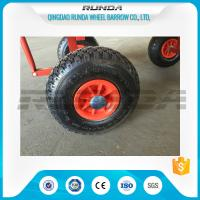 China Natural Rubber Inflatable Trolley Wheels PP Rim 16mm Axle Hole Centered Hub 3.00-4 on sale