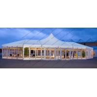 Large High Peak PVC Event Tent , Special Shape Outdoor Canopy Tent Glass Windows Doors