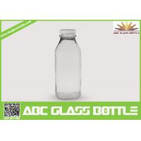 Quality Clear regular 10 oz. glass bottles for milk for sale
