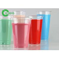 Quality Recyclable Clear PET Plastic Cups 600ml Strong Easy To Hold For Restaurants for sale