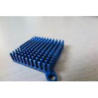 Quality Blue Anodized Cold Forge CNC Machining Aluminium Heat Sink Profiles for Cooling System for sale