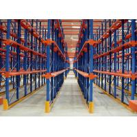 Quality Multi Tier Warehouse Metal Drive In Racking For Cold Room Storage / Food Industry for sale