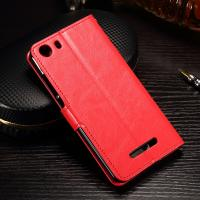 Quality Dirt Proof Cell Phone Leather Wallet Case Wiko Lenny 3 Flip Cover Slim Design for sale