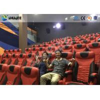 Quality Electrical / Hydraulic4D Movie Theater Equipment For Action Movies 4 seats - 100 seats for sale