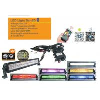 Quality 50 Inch RGB Car Light Bar With Bluetooth App 5D Projector Lens Combo Beam for sale