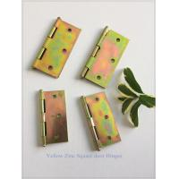 Zinc Plated Heavy Duty Door Hinges Wooden Packing Yellow Color 6 Pair