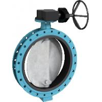 Quality wafer type electric actuator butterfly valve(double half shaft without pin) for sale