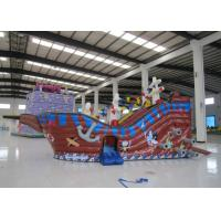 Quality Large  Kids Outdoor Inflatable Pirate Ship Fire Resistance PVC digital painting inflatable pirate boat jump house for sale