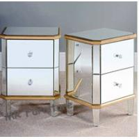 Quality Excellent Mirrored Night Stands Birch Wood Leg MDF Body Customized Size for sale
