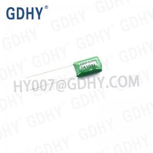 Quality 0.01UF 1000V 5% Metallized Polyester Film Capacitor CL11 2J103J for sale