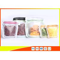 Quality S / M / L Size Custom Jar Stand Up Zipper Stand Up Pouch Packaging Dry Food Packing for sale