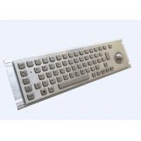 Quality Braille Industrial Metal Keyboard / Stainless Steel Keyboard With Trackball for sale