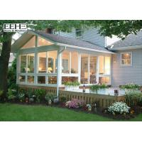 Quality Heatproof 4 Season Glass Enclosed Sunroom With PVDF Coating Surface Finish for sale