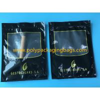 Quality SGS Black Moisturizing Bag Can Hold  4-6 / Cigar Bags With Transparent Window for sale