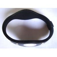 China Cheap power black balance silicone bracelet / Custom Rubber Wrist Bands on sale