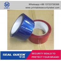 Quality Customized Promotion PET Tamper Security Seal Tape For Carton Sealing for sale