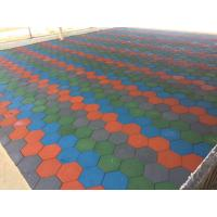 Quality Anti Skid Outdoor Rubber Mats , Shock Absorption 15-60mm Rubber Play Tiles for sale