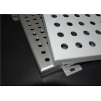 Quality Wall / Ceiling Perforated Aluminum Panels Hot Dipped Galvanized For Outside for sale