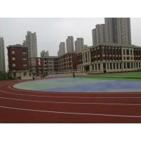 Quality Noise Reduction EPDM Running Track , Athletic Stadium EPDM Crumb Rubber Surface for sale