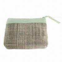 Quality Fabric Cosmetic Bag, Perfect for Promotional Gifts, Made of Linen/Cotton, Small Orders are Welcome for sale
