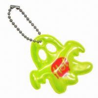 Quality Ghost-shaped Soft Reflectors in Yellow, with Short Ball Chain for sale