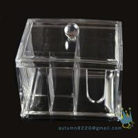 Quality acrylic cosmetic organizer box for sale