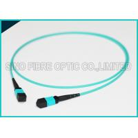 Buy 100Gbps Protocol 24F MPO MTP Mating Fiber Optical OM3 Trunk Polarity B Patch at wholesale prices