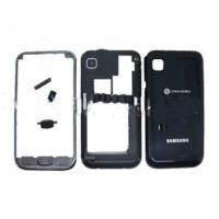 Quality Replacement Samsung Cell Phone Galaxy s Housing i9000 in Black of Original with Faceplate for sale