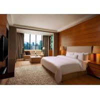 Quality 5 Star Hotel Bedroom Furniture King Size Wooden Material OEM Service for sale