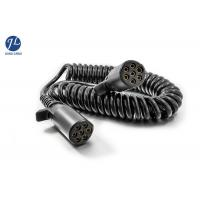 Quality Plastic 7 Pin Spiral Power Cord Backup Camera System Cable In Truck Trailer for sale