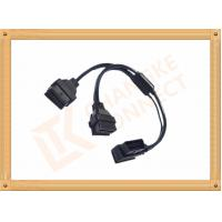 Quality OBD 16 Pin Automotive Extension Male To Female Cable Y Type CK-MF16Y02L for sale