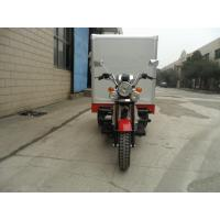 Quality Shaft Drive Manul Clutch Closed Box Cargo Tricycle , Gasoline Tricycle Trike for sale