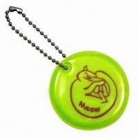 Quality Round-shaped Soft Reflectors in Yellow, with Short Ball Chain for sale