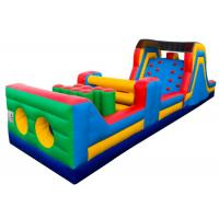 Quality 5 In 1 Obstacle Course Bounce House Seam Reinforced Water - Proof High Tensile Strength for sale