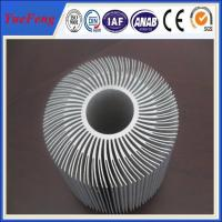 Quality Extruded Aluminum Round Heat Sink,Sunflower Heat Sink New Design for sale
