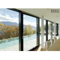 Outside Aluminium Front Sliding Doors , Red Aluminium Windows Sliding Doors