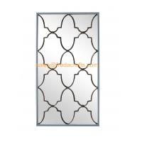 Quality Direct Factory Price Nice Design Rectangle Wall Mirror With Metal Decorative Antique Gold Wall Mirror for sale