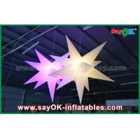 Buy Nylon Advertising LED Star Balloon Outdoor Inflatable Decorations WIth CE / UL Blower at wholesale prices
