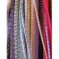 Quality kinds of colorful polyester stripe shoelaces for sale