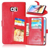 Buy cheap Samsung Galaxy S4 S5 S6 S7 Edge+ Wallet Case Leather Cover Bags Pouch 9 Cards from wholesalers