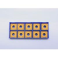 Quality Gold Rigid Indexable Carbide Inserts For Aluminum / Stainless Steel for sale