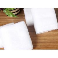 Quality Bulk Customized Hotel Face Towel White 100% Organic Cotton With Logo for sale