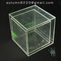 Quality BO (49) clear acrylic case with dividers for sale