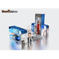 China Backlit Fabric 10x10 Trade Show Booth Design For Outdoor Advertising on sale