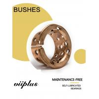 China Oilless Self Lubricating Plain Bearing Bronze Sleeve Bearings 090 & 092 with holes for Mining machinery on sale