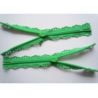 Buy Custom Length Double Sided Sewing Notions Zippers , Nylon Lace Zipper For at wholesale prices