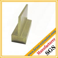 China T-shaped copper alloy brass hardware extrusion sections brass profiles on sale